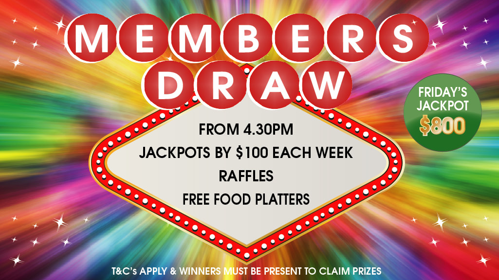 Members Draw at Brightwater Hotel Members Drink Specials + Raffles + Free Food Platters Every Friday from 4.30pm