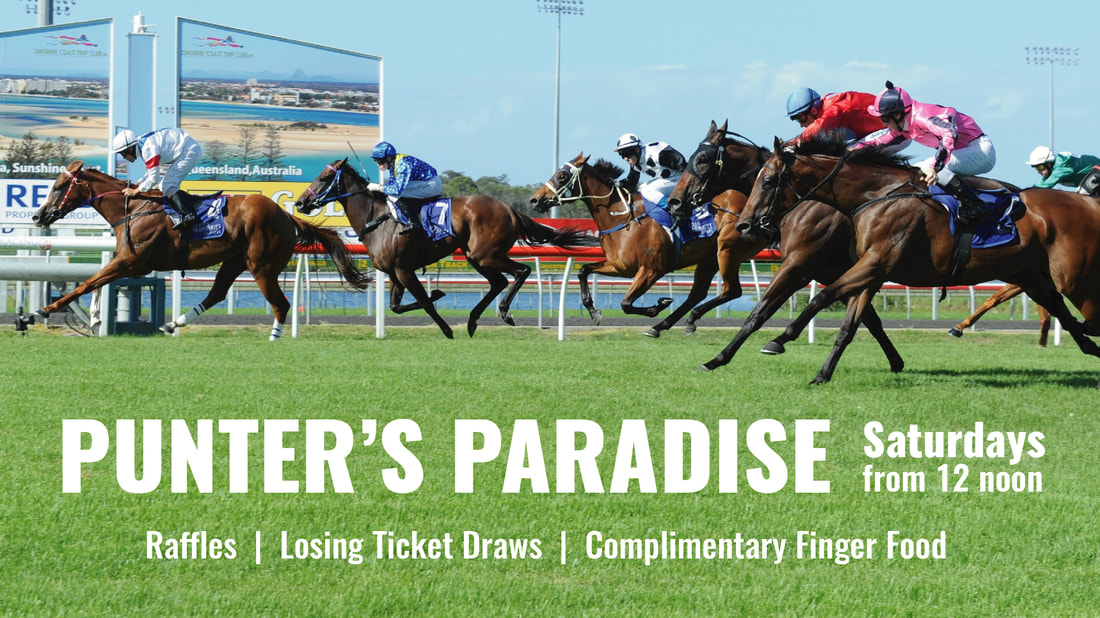 Punter's Paradise at Brightwater Hotel Raffles + Losing Ticket Draws + Complimentary Finger Food Every Saturday from 12 noon in the Sports Bar